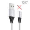 Silver cable No Plug