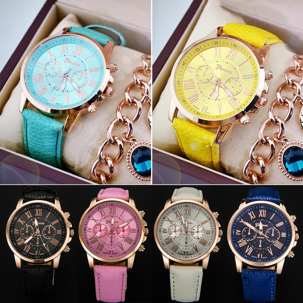 837965eb48ad1 مجموعة ساعة ماركة Geneva وإسوارة متناسقة وتصميم مميز – TalaPco - طلبكو